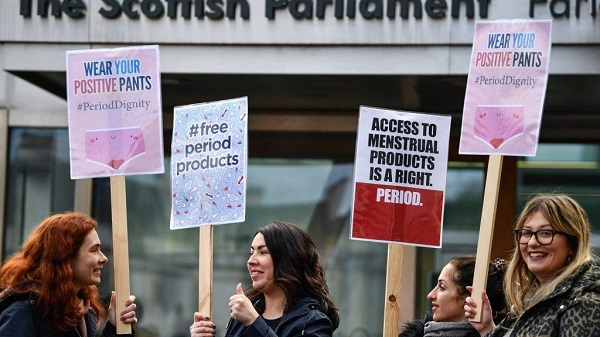 Scotland becomes first country to make tampons and pads free